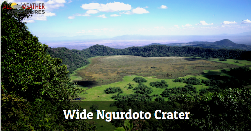 Wide Ngurdoto Crater
